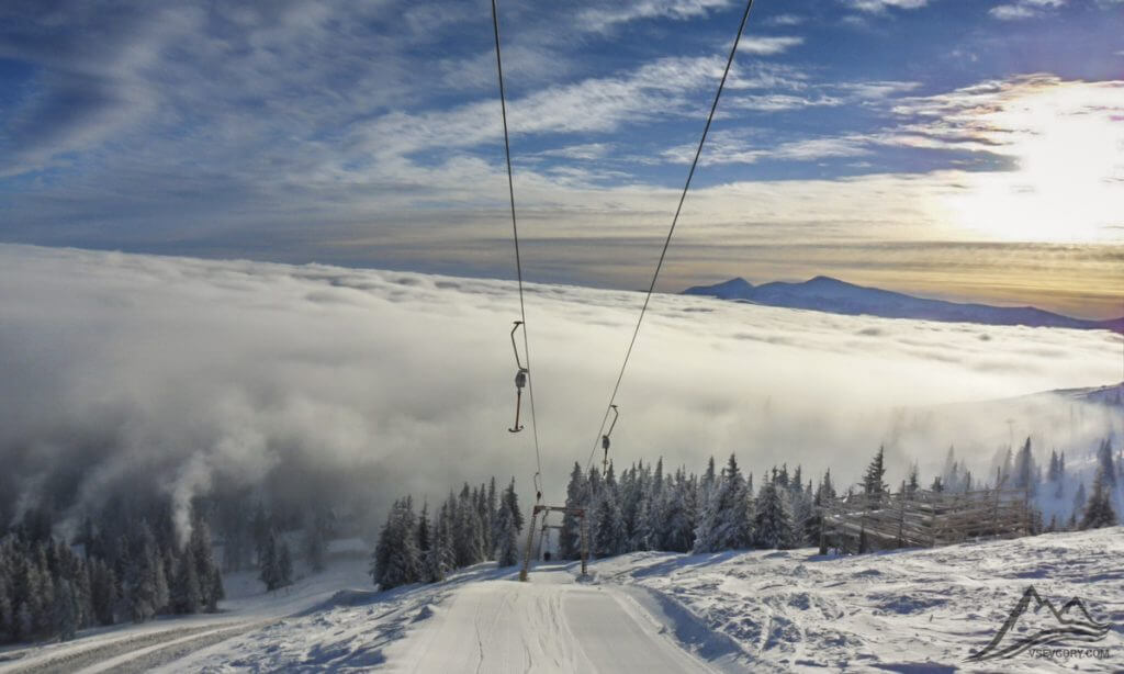 Ski resort in the Carpathians, Dragobrat